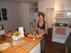 Pretty Patty Cooking (and Todd in the background)
