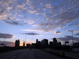 Riding through Kansas City